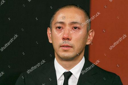 Ichikawa Ebizo XI attends a news conference