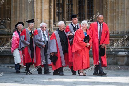 Professor Judith Weir CBE, Professor Joan Argetsinger Steitz, Professor Eugene Braunwald, Frank Gehry, Dr Robert Darnton, Baroness Shirley Williams, Bryan Stevenson