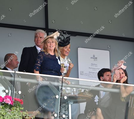 Holly Willoughby, Phillip Schofield, Ben Caring and Elle Caring
