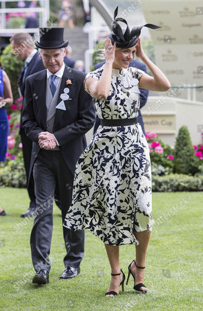 Holly Willoughby, who presented the prizes for the King Edward VII Stakes at Ascot alongside Phillip Schofield.
