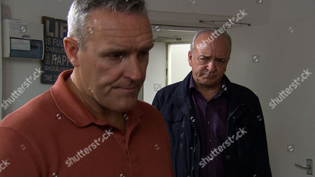 Lawrence White, as played by John Bowe, turns up at Tim's, as played by Mark Moraghan, house with a thuggish associate. (Ep 7867 - Wed 5 July 2017)