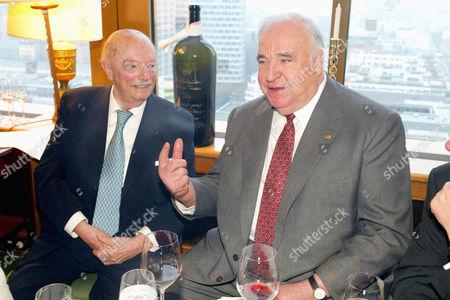 Stock Photo of Gyula Trebitsch and Helmut Kohl