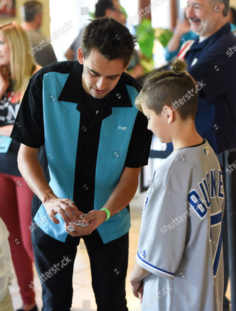 Blake Vogt with patient at Children's Mercy Hospital