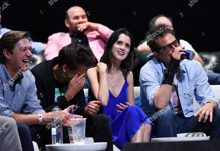 Kevin Rahm, Blake Vogt, Laura Marano and Johnny Knoxville