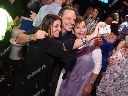 Stock Image of Mandi Rudd, Jake Tapper and Gloria Rudd