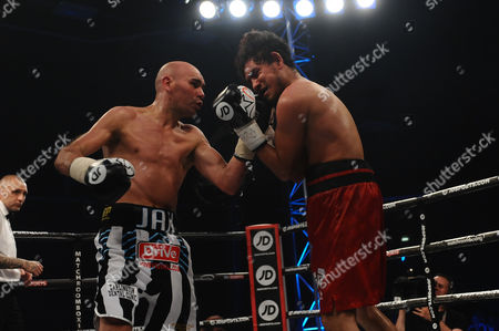 Stuart Hall defeats Jose Aguilar on points during a Boxing Show at the Walker Activity Dome on 23rd June 2017