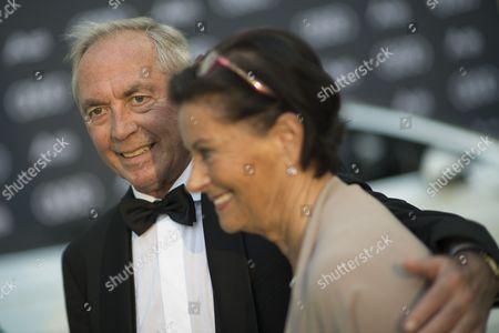 Stock Image of Karl Schranz and Evelyne Schranz