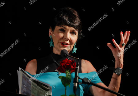 Elisabetta Sgarbi speaks at the San Marco church, during La Milanesiana cultural event, in Milan, Italy