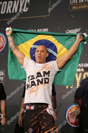 Wanderlei Silva is seen during a weigh-in before Bellator 180, in New York