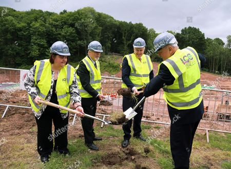 Editorial photo of ICC Wales headquarters ground breaking, Newport, Wales, UK - 23 Jun 2017