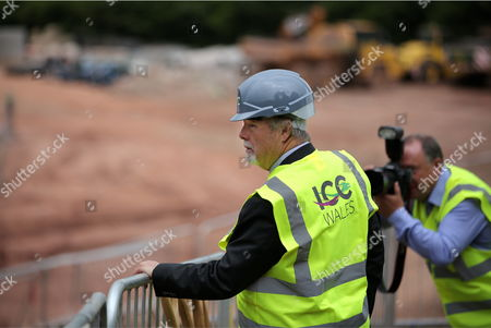 Editorial picture of ICC Wales headquarters ground breaking, Newport, Wales, UK - 23 Jun 2017
