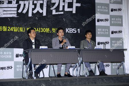 Editorial photo of 'Detectives in Trouble' TV Show press conference, Seoul, Republic of Korea - 22 Jun 2017