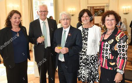 Bea Böhlen, Winfried Kretschmann, Frank Elstner, Margret Mergen, Gerlinde Kretschmann