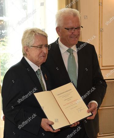 Frank Elstner and Winfried Kretschmann