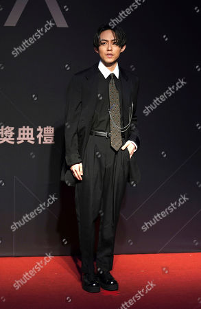 Stock Image of Taiwanese singer Yoga Lin arrives at the 28th Golden Melody Awards in Taipei, Taiwan, . Lin is nominated for Best Male Mandarin Singer for his self-titled album ''Sell like hot cakes'' at this year's Golden Melody Awards, one of the world's biggest Chinese-language pop music annual events