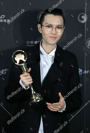 Hong Kong singer Khalil Fong holds his award for the Best Male Mandarin Singer at the 28th Golden Melody Awards in Taipei, Taiwan, . The Golden Melody Awards are one of the Chinese-language pop music world's biggest annual events