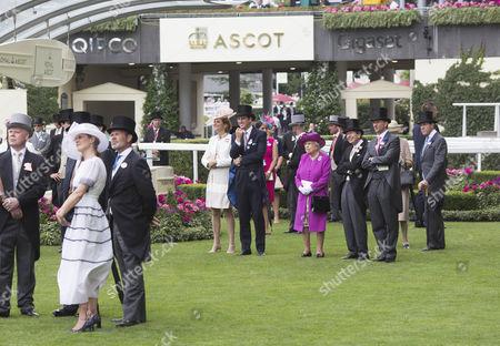 Lady Carolyn Warren, Jake Warren, Queen Elizabeth II, John Warren and Johnny Weatherby