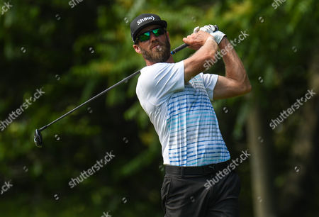 Graham DeLaet follows his tee shot on the 12th hole during the third round of the Travelers Golf Championship at TPC River Highlands in Cromwell, Connecticut