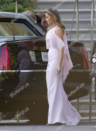 First lady Melania Trump departs the White House in Washington, DC to attend the wedding of US Secretary of the Treasury Steven Mnuchin and Louise Linton.