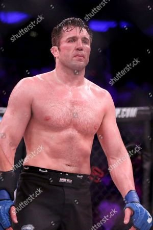 Chael Sonnen is seen after his bout against Wanderlei Silva at Bellator 180, in New York. Sonnen won via unanimous decision