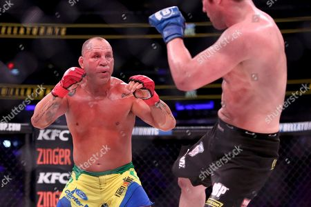 Wanderlei Silva in action against Chael Sonnen during a mixed martial arts bout at Bellator 180, in New York. Sonnen won via unanimous decision
