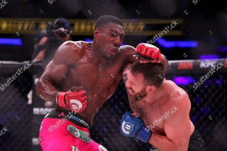 Ryan Bader, Phil Davis Ryan Bader, right, in action against Phil Davis in a mixed martial arts bout for the light heavyweight title at Bellator 180, in New York. Bader won via decision to win the title