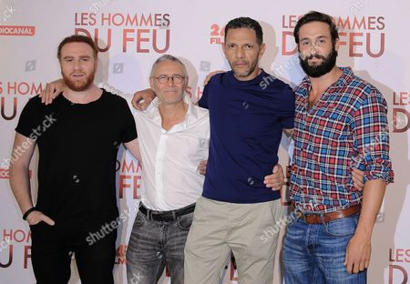 Stock Image of Michael Abitboul, Pierre Jolivet, Roschdy Zem and Guillaume Labbe