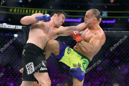 Chael Sonnen, Wanderlei Silva Chael Sonnen, left, trades blows with Wanderlei Silva, of Brazil, during a mixed martial arts bout at Bellator 180 early, in New York. Sonnen won via unanimous decision