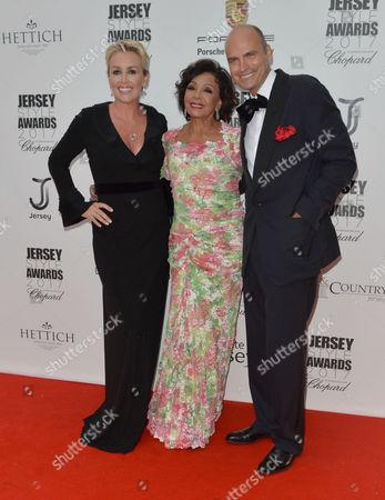 Tessa Hartmann CBE, Dame Shirley Bassey and Sascha Hartmann