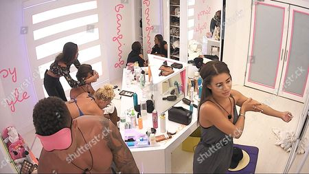 Tyla Carr does Kem Cetinay 's hair besides Simon Searles and Montana Brown - Series 3 Episode 21