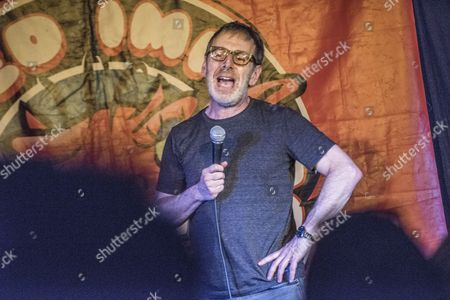 Editorial photo of Ian Stone performing at The Red Imp Comedy Club, Walthamstow, London, UK - 22 Jun 2017