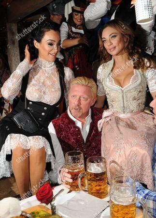 Stock Image of Bernhard Fritsch / Starclub +  Verona Pooth + Boris Becker + Frau Lilly