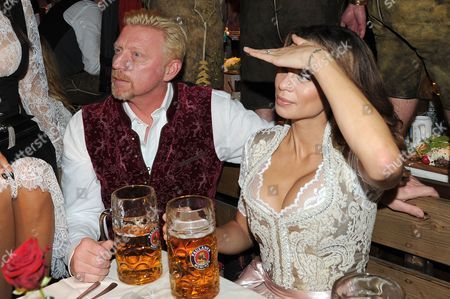 Stock Picture of Verona Pooth + Boris Becker + Frau Lilly
