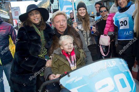 Boris Becker + Frau Sharlely Lilly Kerssenberg +  Sohn Amadeus Benedict Edley Luis