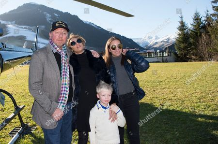 Boris Becker + Frau Sharlely Lilly Kerssenberg +  Sohn Amadeus Benedict Edley Luis  +  KindermÅ dchen Alaja