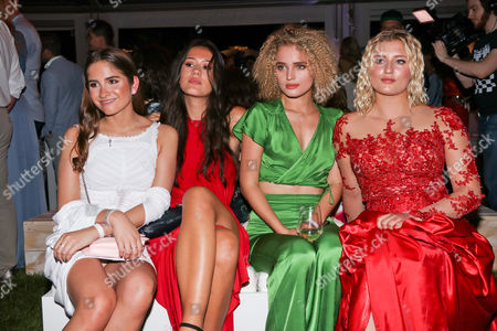 Lucia Strunz (Tochter von Claudia Effenberg), Isabella Maria Ahrens (Tochter von Mariella Ahrens), Chiara Moon (Tochter von Anouschka Renzi) and Luna Schweiger (Tochter von Til Schweiger)