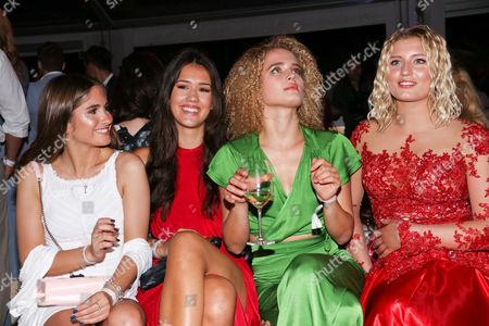 Stock Picture of Lucia Strunz (Tochter von Claudia Effenberg), Isabella Maria Ahrens (Tochter von Mariella Ahrens), Chiara Moon (Tochter von Anouschka Renzi) and Luna Schweiger (Tochter von Til Schweiger)