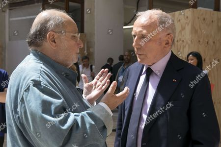 Stock Picture of Francois Pinault and Serge Moati