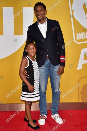 Stock Image of Louis Williams and daughter