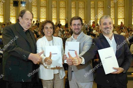 Josep Maria Pou, Dolors Montserrat, Antoni Comin and Jaume Collboni