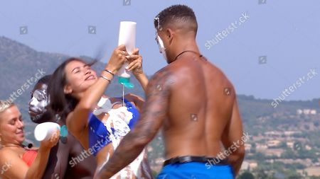Montana Brown and Simon Searles during the challenge - Series 3, Episode 22