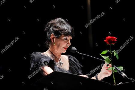 Stock Photo of Elisabetta Sgarbi attends 'La Milanesiana' cultural event, at the Piccolo Teatro Grassi, in Milan, Italy
