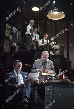 Stock Picture of David Schofield as Hugh Cudlip, Tony Turner as Frank Nicklin, Rene Zagger as Ray Mills, Bertie Carvel as Rupert Murdoch, Geoffrey Freshwater as Sir Alick McKay, Richard Coyle as Larry Lamb