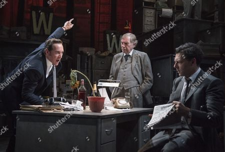 Bertie Carvel as Rupert Murdoch, Geoffrey Freshwater as Sir Alick McKay, Richard Coyle as Larry Lamb