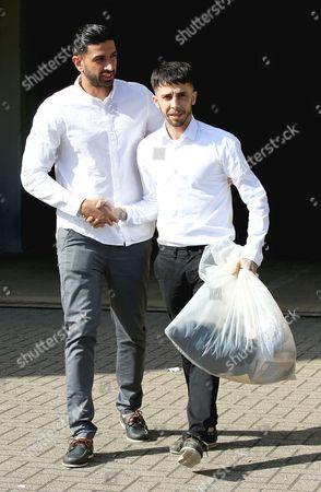 Dappy and manager, Siavash Khatiri