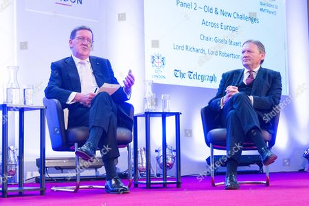 Lord Robertson of Port Ellen and Russian politician and businessman Boris Yurievich Titov, Presidential Commissioner for Entrepreneurs' Rights.