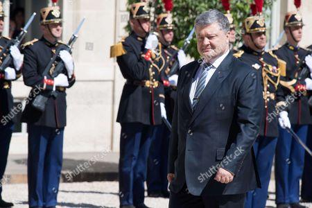 Stock Picture of Ukrainian President Petro Poroshenko at Elysee Palace