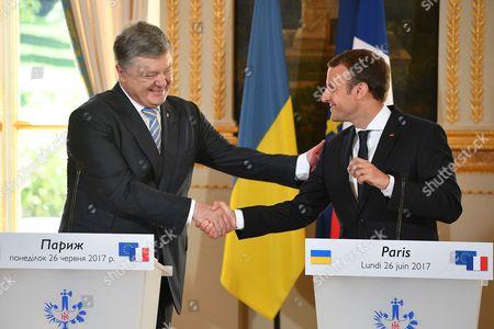 Editorial picture of Ukrainian President Porochenko visits France - 26 Jun 2017
