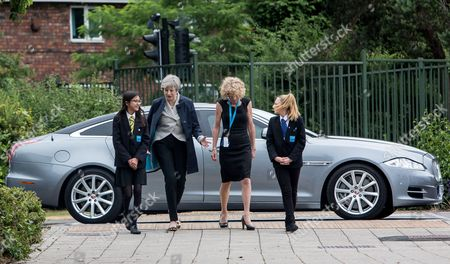 Editorial image of Theresa May visits Orchard School, Filton, Bristol, UK - 27 Jun 2017