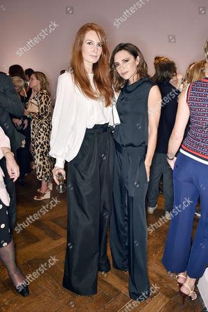 Angela Dunn and Victoria Beckham